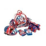 Saica - Set rotile Spiderman pentru copii cu accesorii protectie si casca marimi reglabile 24-29