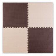 Ricokids - Covoras puzzle, 120x120 cm, Bej/Maro
