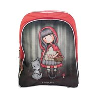 Santoro Gorjuss - Ghiozdan clasa 0 soft cu glitter Little Red Riding Hood