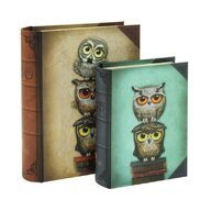 Santoro Gorjuss - Set 2 cutii tip carte Book Owls