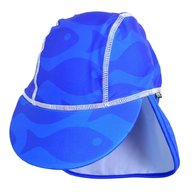 Swimpy - Sapca Fish blue , protectie UV , 0-1 ani