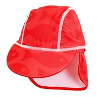 Swimpy - Sapca Fish red , protectie UV , 0-1 ani