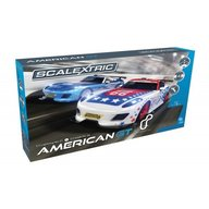 Scalextric - Pista masinute American GT 5m traseu masinute GT Lightning No 27 Race Car si GT Eagle No 66 Race Car
