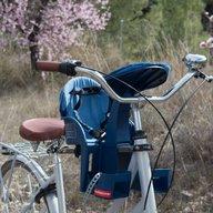 WeeRide - Scaun de bicicleta SafeFront deluxe 2018 si casca protectie Flames, Roz