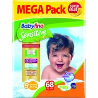 Babylino - Scutece Sensitive Megapack, Junior Plus N5+, 68 buc