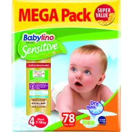 Babylino - Scutece Sensitive Megapack, Maxi N4, 78 buc