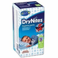 Scutece-chilotel pentru noapte Huggies DryNites 4-7 ani Boy 10 buc, 17-30 kg