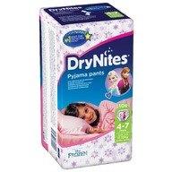 Scutece-chilotel pentru noapte Huggies DryNites 4-7 ani Girl 10 buc, 17-30 kg