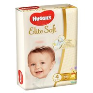 Huggies - Elite Soft (nr 4) Mega 66 buc, 8-14 kg