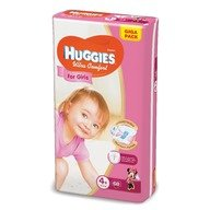 Scutece Huggies Ultra Confort Giga Pack (nr 4+) Girl 68 buc, 10-16 kg