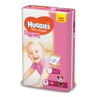 Scutece Huggies Ultra Confort Giga Pack (nr 4) Girl 80 buc, 8-14  kg