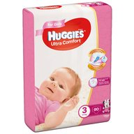 Scutece Huggies Ultra Confort Mega Pack (nr 3) Girl 80 buc, 5-9 kg
