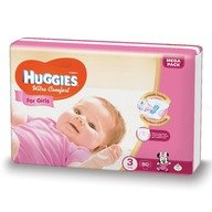 Scutece Huggies Ultra Confort Mega Pack (nr 3) Girl 80 buc, 5-9 kg