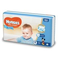 Scutece Huggies Ultra Confort Mega Pack (nr 4) Boy 66 buc, 8-14 kg