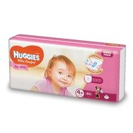 Scutece Huggies Ultra Confort Mega Pack (nr 4+) Girl 60 buc, 10-16 kg