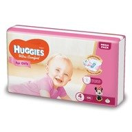 Scutece Huggies Ultra Confort Mega Pack (nr 4) Girl 66 buc, 8-14 kg