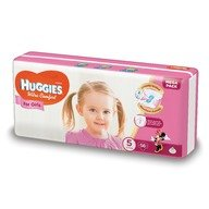 Scutece Huggies Ultra Confort Mega Pack (nr 5) Girl 56 buc, 12-22 kg