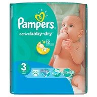 Scutece Pampers Active Baby 3 Midi Regular Pack 22 buc