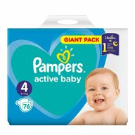 Pampers - Scutece Active Baby 4, Giant Pack, 76 buc