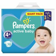 Pampers - Scutece Active Baby 4+, Giant Pack, 70 buc