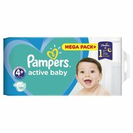 Pampers - Scutece Active Baby 4+, Mega Box, 120 buc