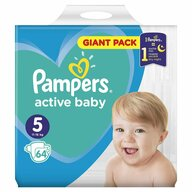 Pampers - Scutece Active Baby 5, Giant Pack, 64 buc