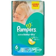 Scutece Pampers Active Baby 6 ExtraLarge Jumbo Pack 54 buc
