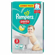 Pampers - Scutece Active Baby Pants 3, Jumbo Pack, 60 buc