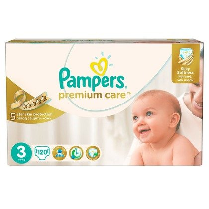 Scutece Pampers Premium Care 3 Mega Box 120 buc