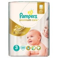 Scutece Pampers Premium Care 3 Midi Small Pack 20 buc