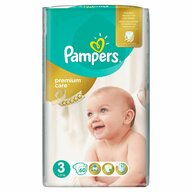 Pampers - Scutece Premium Care 3 Midi, Value Pack, 60 buc
