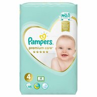 Pampers - Scutece Premium Care 4, Jumbo Pack, 68 buc