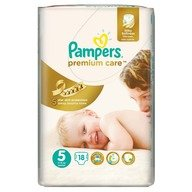 Scutece Pampers Premium Care 5 Junior Small Pack 18 buc