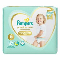 Pampers - Scutece Premium Care Pants 6, Value Pack, 31 buc