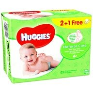 Servetele umede bebelusi Huggies BW Natural Care Triplo 2+1 (56x3)