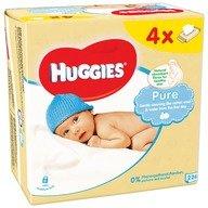 Servetele umede bebelusi Huggies BW Pure Quad (56x4)
