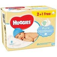 Servetele umede bebelusi Huggies BW Pure Triplo 2+1 (56x3)