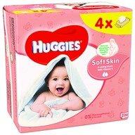 Servetele umede bebelusi Huggies BW Soft Skin Quad (56x4)