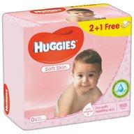 Servetele umede bebelusi Huggies BW Soft Skin Triplo 2+1 (56x3)