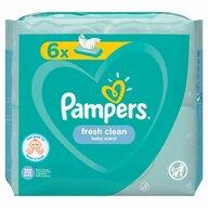 Pampers - Servetele umede Fresh Clean 6pk (6x52 buc)