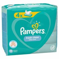 Pampers - Servetele umede Fresh Clean Quattro (4x52 buc)