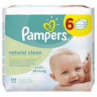 Servetele umede Pampers Natural Clean 384 buc.