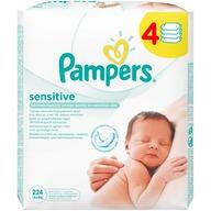 Servetele umede Pampers quattro Sensitive (224 buc)