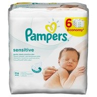Servetele umede Pampers Sensitive 6pk*56buc 25% reducere