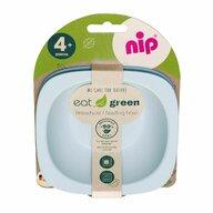 Nip - Set de masa , Eat Green , 2 castroane, Pentru mancarea copiilor