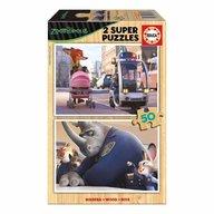 Educa - Set 2 super puzzle Disney ZooTropolis 50 piese