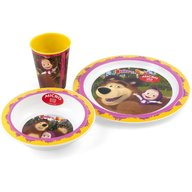 Set 3 piese Masha and The Bear Lulabi 8053600