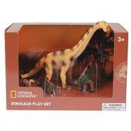 National Geographic - Set 4 figurine Brachiosaurus, Stegosaurus si puii lor