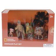 National Geographic - Set 4 figurine Chasmosaurus, Guanlong, Pachycephalosaurus si T-Rex