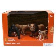 National Geographic - Set 4 figurine Gorila, Maimuta, Leu si Leoaica